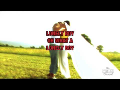 Lonely Boy in the style of Andrew Gold   Karaoke with Lyrics