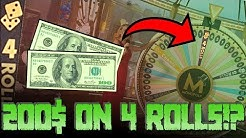 200$ ON 4 ROLLS!? (MAX BET)