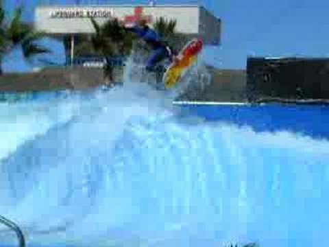 surfing wave pool backside