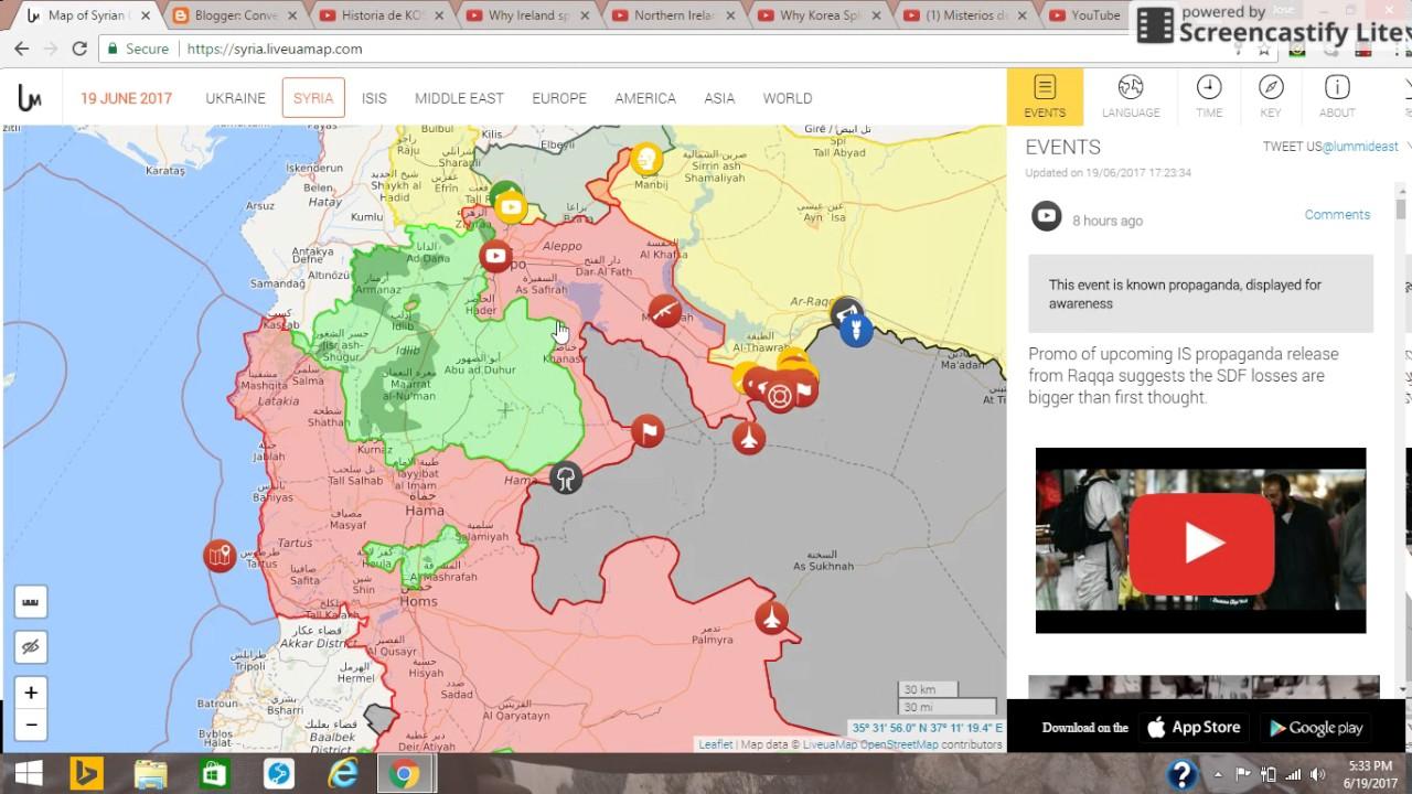 Mapa Actualizado Del Conflicto Sirio Youtube