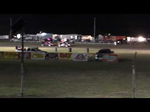 Sprint car bandits feature restart #2 6-11-16 Greenville Texas