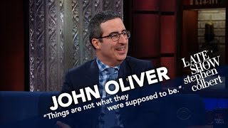 John Oliver Doesn't Think He'll Get Deported, But He's Being Cautious(Host of 'Last Week Tonight' John Oliver swings through to talk with Stephen about the current state of American politics and his own immigration status., 2017-02-08T08:35:01.000Z)