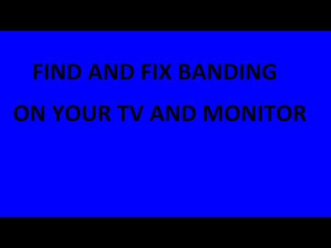 Fix And Identify Vertical Banding On TV And Monitor Blue Screen Background 1 Hour