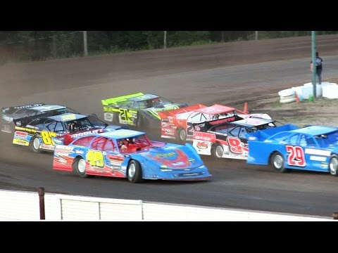 Late Model Heat 1 at Mt Pleasant Speedway on 8-19-16