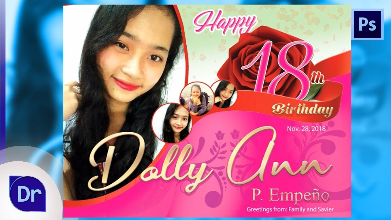 photoshop tutorials how to design simple debut 18th birthday