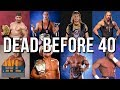 30 WWE Wrestlers Who Died And Committed Suicide Before The Age of 40 | 30 wwe wrestlers who died in the ring and committed suicide before the age of 40  ► Behind The Titantron Episodes (Wrestling Most Controversial):  Episode 1: Steroids In WWF:  https://goo.gl/0BPzGl Episode 2: Death Of Owen Hart:  https://goo.gl/YCT31o Episode 3: WWF Sex Scandal: https://goo.gl/zMyNvG Episode 4: Death Of The Benoit Family:  https://goo.gl/27dQAR Episode 5: Mass Transit Incident:  https://goo.gl/HGld3z Episode 6: The Murder Of Brusier Brody:  https://goo.gl/ImUI7T Episode 7: The Real Story of Wrestlemania: https://goo.gl/Gzn2mo Episode 8: The Plane Ride from Hell:  https://goo.gl/2GBXRC Episode 9: The Curtain Call:  https://goo.gl/0Wmh2r Episode 10: Murder of Nancy Argentino https://goo.gl/QdAQdi Episode 11: Montreal Screwjob (Part 1) https://goo.gl/WSJO82 Episode 12: Montreal Screwjob (Part 2) https://goo.gl/NkZuUR Episode 13: Montreal Screwjob (Part 3)  https://goo.gl/nxbfUU Episode 14: Murder of Dino Bravo  https://goo.gl/UqLjz9 Episode 15: Black Saturday https://goo.gl/yWCujv Episode 16: WCW Racism Lawsuit Pt. 1 https://goo.gl/942oP8 Episode 17: WCW Racism Lawsuit Pt. 2 https://goo.gl/vY2uGh Episode 18: Rise & Fall of Sunny  https://goo.gl/zHyQCR  80's Wrestlers: Where Are They Now? https://goo.gl/9NMXH1 WCW Invasion Superstars: Where Are They Now? https://goo.gl/oOhfvT Wrestlers Who Were High in The Ring https://goo.gl/ZWP6Ut 10 WWE Backstage Bullies https://goo.gl/JDb7p7 13 WWE Champions Who Drew Low Ratings & Buyrates: https://goo.gl/aTIrdf 10 MOST SHOCKING Plans That Almost Happened in WCW: https://goo.gl/eGfJu6 WORST WCW Gimmicks That FAILED INSTANTLY: https://goo.gl/rzNDWi 13 Most Controversial Wrestling Gimmicks: https://goo.gl/iNZiii 11 MOST SHOCKING Body Transformations in Wrestling!  https://goo.gl/q9Sxuq 15 Ex WWE Employees Who Will Never Return: https://goo.gl/tqC80O 10 Most Shocking WWE Plans:  https://goo.gl/QEgBJs  15 Unique Royal Rumble Facts:  https://goo.gl/osOfwj 5 of the WORST years in Wrestling!:   https://goo.gl/1Ie2M7 5 of the Best Years in Wrestling!: https://goo.gl/PukdvL Worst WWF Merchandise: https://goo.gl/sMfdyR Worst WCW Merchandise:  https://goo.gl/35wtdM Worst Wrestling Games Of All Time:  https://goo.gl/o2ErYR Real Wrestling Fights:  https://goo.gl/bQwkCH 15 Forgotten Fails of WWF:  https://goo.gl/Grdx0h Wrestling's Badasses!:  https://goo.gl/HZlNof Attitude Era Superstars: Where Are they Now?: https://goo.gl/uRKRxh 10 Amazing Facts about WCW:  https://goo.gl/X6XpM3  ►Many More Videos:  https://goo.gl/p1cRZN  ► Twitter Page  http://bit.ly/1Pes74s ► Facebook Page  http://on.fb.me/1U9C3oe