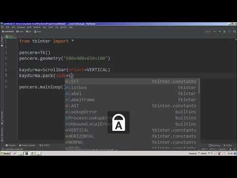 Scrollbar Python Tkinter #46 - YouTube