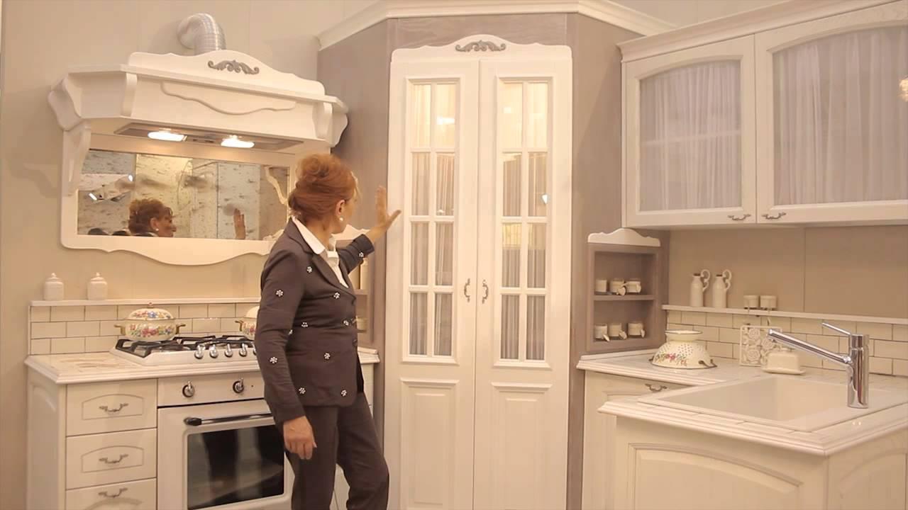 Cucina Angolare Shabby Chic_Larte di Mastro Geppetto