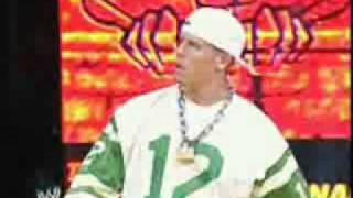 john cena raps at rumble 2003 (No video)