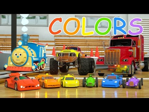 Thumbnail: Learn Colors and Race Cars with Max, Bill and Pete the Truck - TOYS (Colors and Toys for Toddlers)