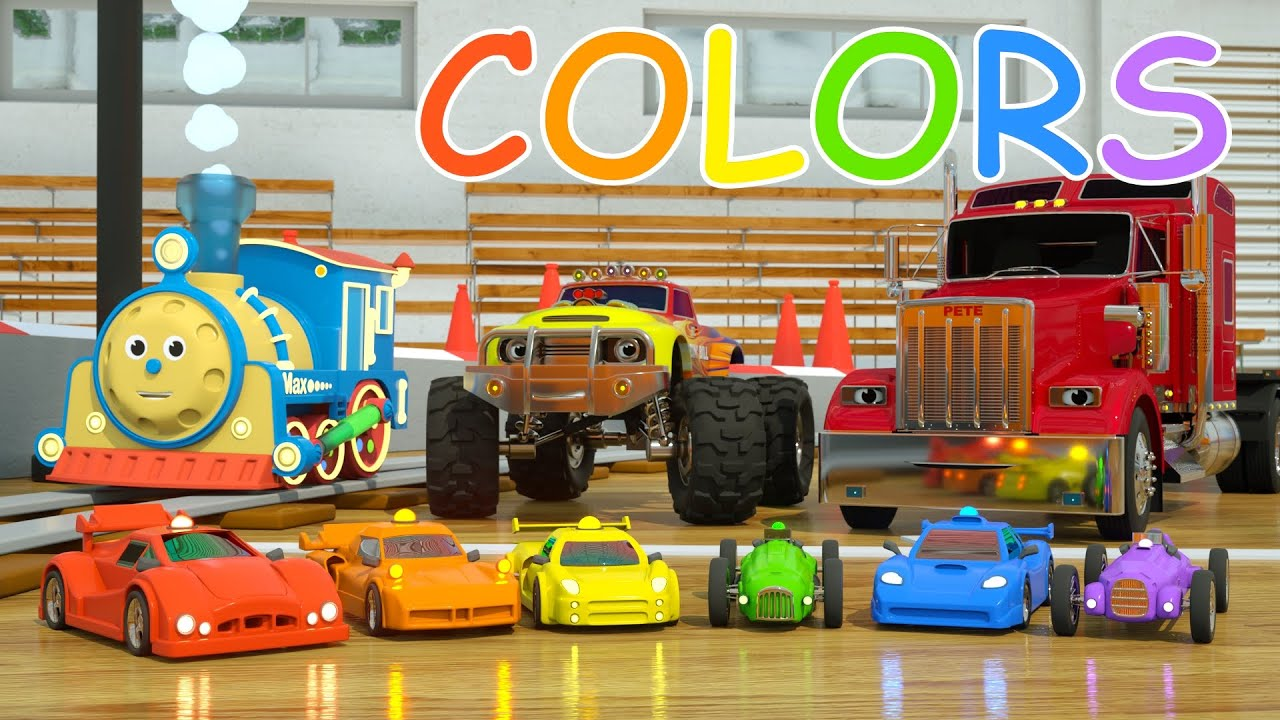 Learn Colors And Race Cars With Max, Bill And Pete The