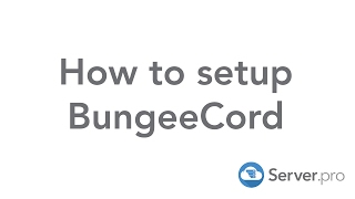 How to setup a BungeeCord network - Server.pro (Premium Only)