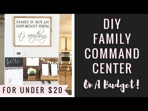 DIY Family Command Center ON A BUDGET!💰🤗 + Organizing Ideas!