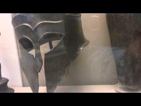 Helmet Corinthian type Greek 460 BC Olympia British Musem London