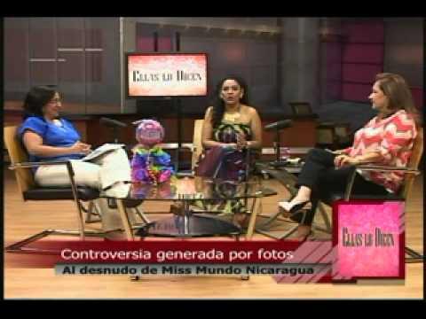 Ellas Lo Dicen. Controversia por fotos al desnudo de Miss Mundo Nicaragua