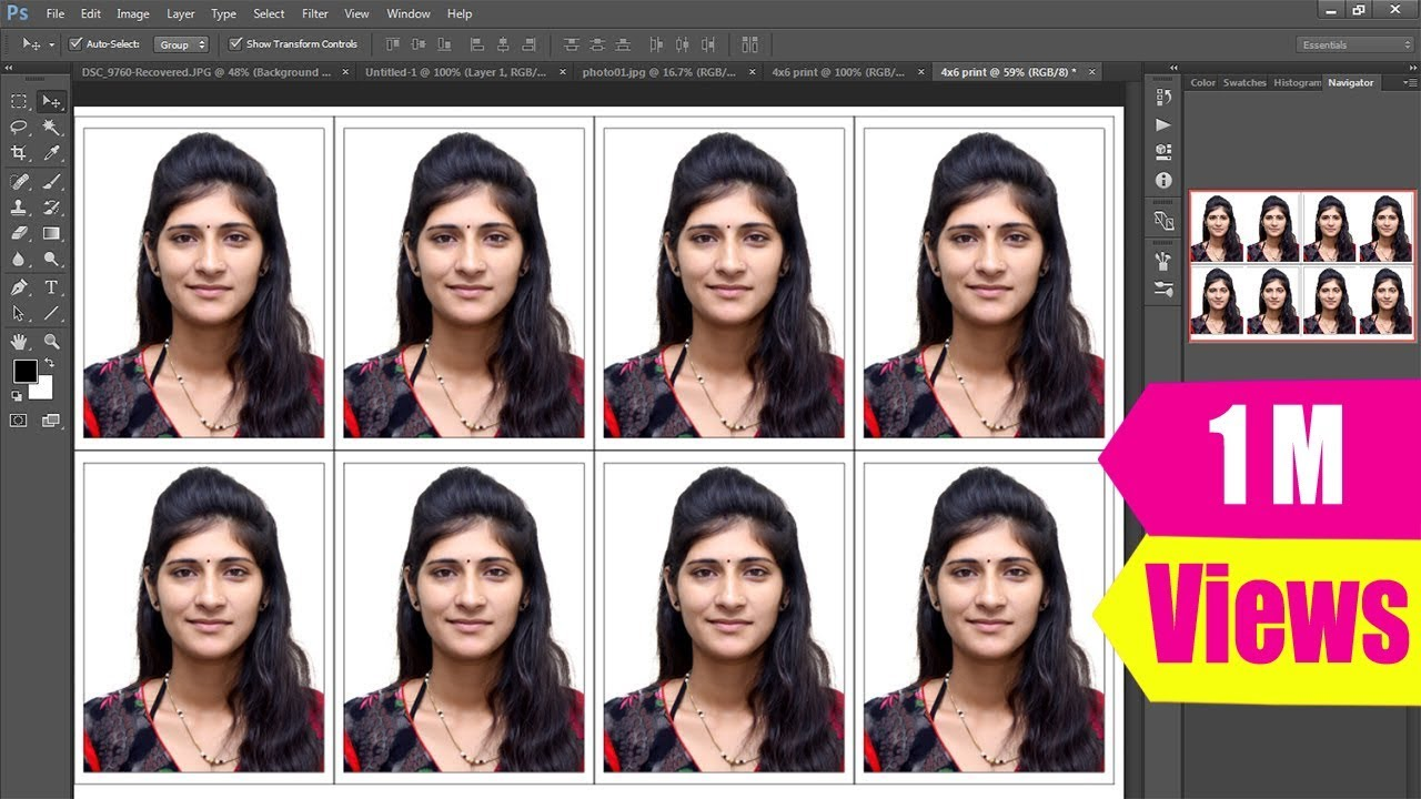 how to create passport size photo