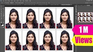 How to Create Passport size Photo as in Studio (One Click)(finish, clear, action, pattern, Studio, fast, one click, any Size, everything about Passport size Photo Hindi Tutorial, How to make/create in one click action, how to ..., 2016-04-18T03:49:55.000Z)