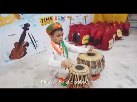 play drums for vandemataram (national song) song by a cute and little boy
