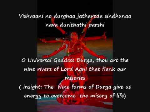 Durga Suktam  Hymn with English subtitles - Durga - Goddess of Energy and the Mother