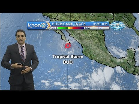 Tropical Storm BUD expected to be downgraded to Tropical Depression
