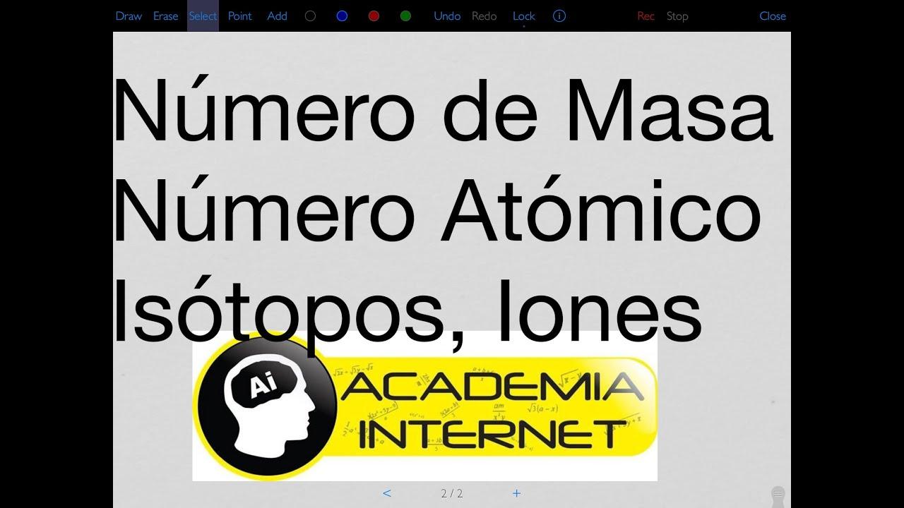 Nmero de masa atmico iones electrones istopos isbaros nmero de masa atmico iones electrones istopos isbaros istonos nclidos youtube urtaz Gallery