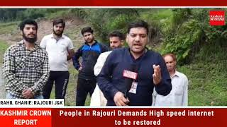 People in Rajouri Demands High speed internet to be restored