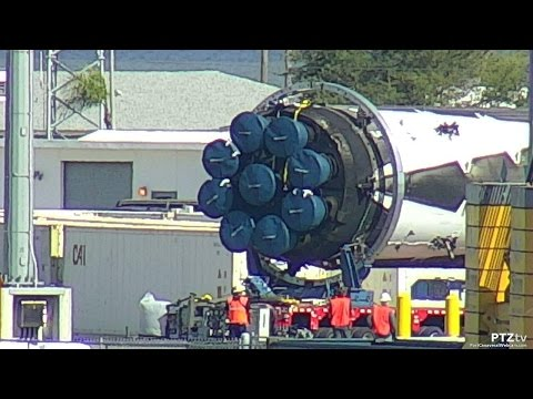 SpaceX Falcon 9 being transported away from Port Canaveral, Florida-Last Views