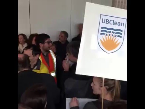 UBC faculty protest Board of Governors meeting (1)