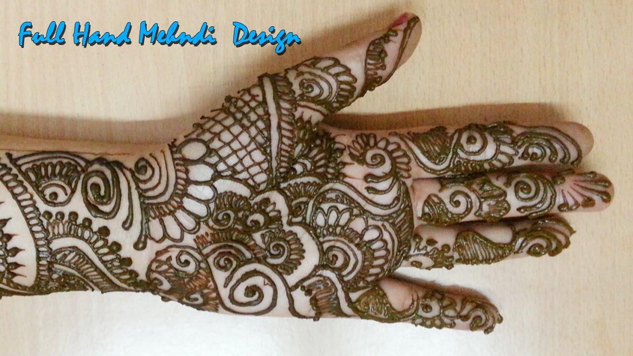 Mehndi Step By Step Designs : Full hand mehndi designs step by modern style