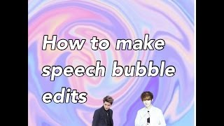 How To Make A Speech Bubble Edit