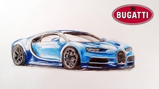 How to draw:  Bugatti Chiron