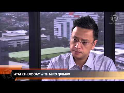 #TalkThursday with Miro Quimbo (part 1)