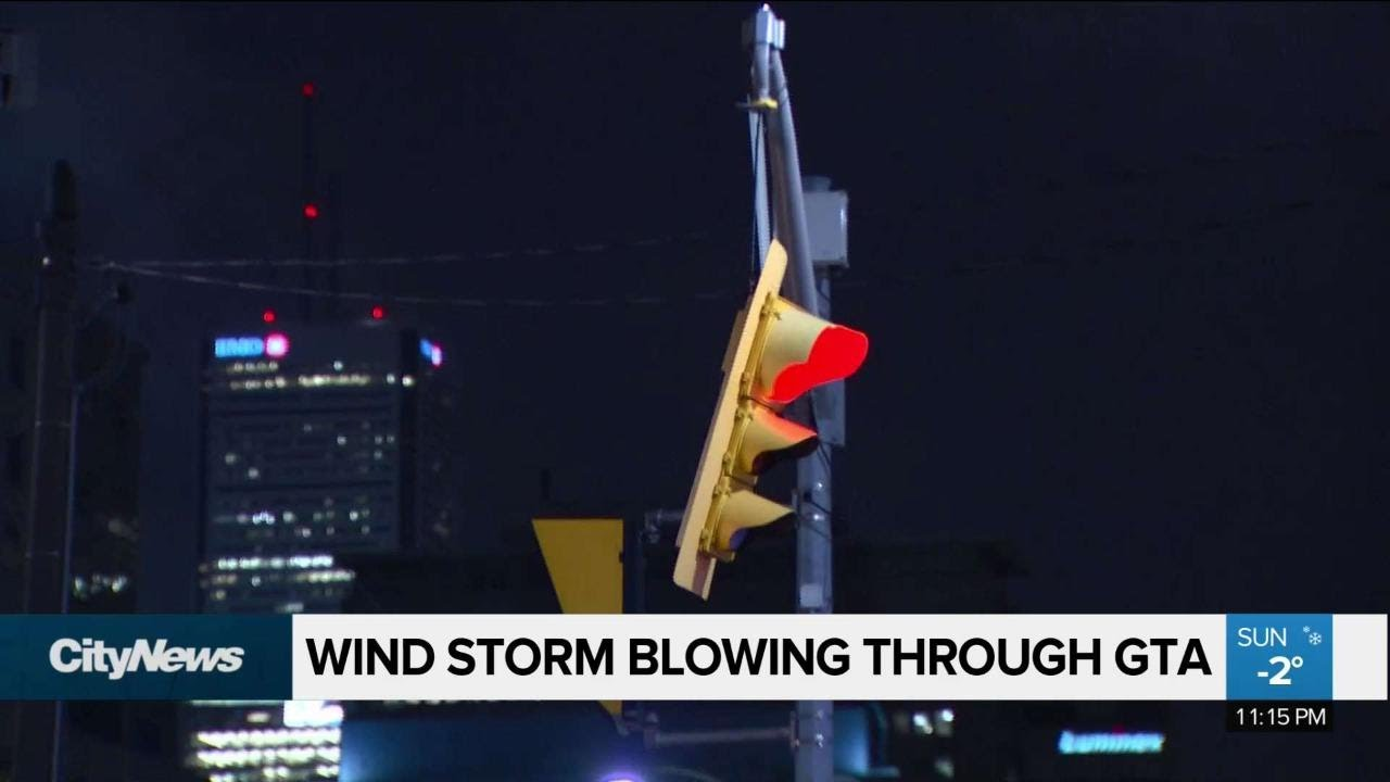 Wind storm blowing through GTA