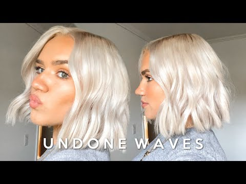 HOW TO: UNDONE MESSY WAVES FOR SHORT HAIR (CURLS WITH A STRAIGHTENER *UPDATED*)