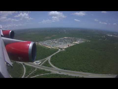 Доминикана....Аэропорт Пунта Кана....посадка Боинг 747