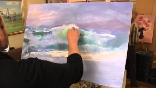 Морской мотив, море, пейзаж, научиться рисовать волны, художник Сахаров
