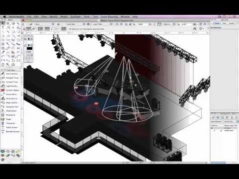 Better focus point for lighting instruments in vectorworks