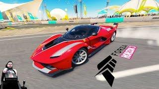 Гипер-сумасшествие Ferrari FXX K - Forza Horizon 3 на руле Fanatec CSL Elite