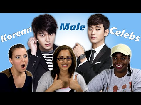 American Girls React to Korean Male Celebrities