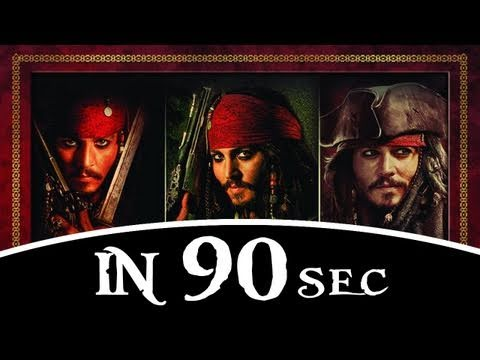 Pirates of the Caribbean trilogy in 90sec!