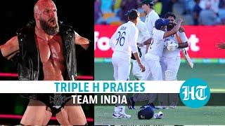 A WWE-scripted level of a comeback by Team India: Triple H