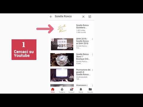 Instructions to follow our YouTube Channel | Istruzioni per seguire il nostro canale YouTube