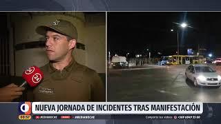 Incidentes tras una manifestación dejaron cinco detenidos en la comuna de Puente Alto