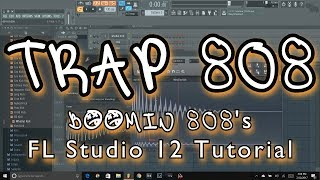 FL Studio 12 tutorial How to make 808 Bass for trap and hip hop