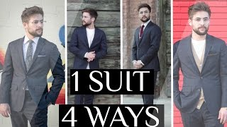 How To Style 1 Suit 4 Ways | Casual Suiting & Dapper Suiting | How To Style A Suit