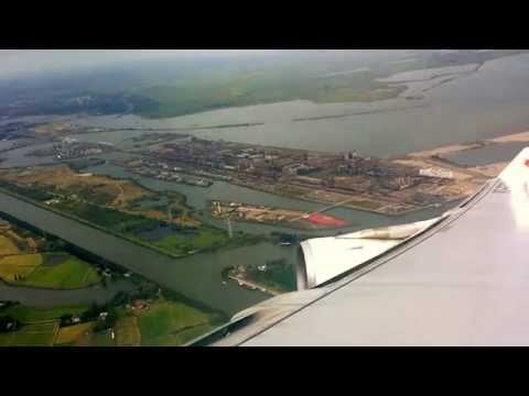 Surinam Airways (A340-311) descending, landing & t