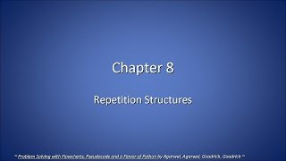 CSC 120-08. Ch 8, Repetition Structures (2015-03-10, Tue)