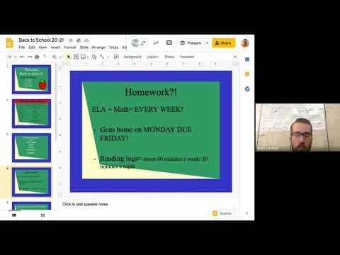 Cedaredge Elementary School - Mr.  Stanfield's Back to School Night Presentation