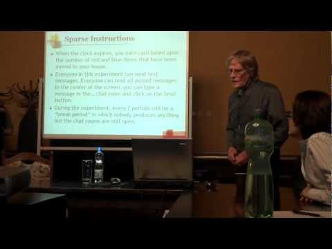 Prof. Vernon Smith Lecture at CERGE-EI, February 2010 - YouTube