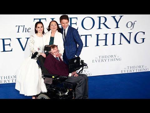 Eddie Redmayne starstruck by Stephen Hawking at premiere